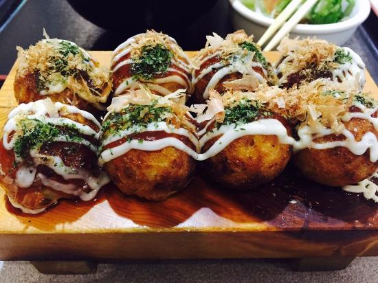 Takoyaki is a Japanese food made from flour and filled with octopus and topped with savory katsuobushi. Actually in Indonesia there are many restaurants that sell Takoyaki, but enjoying takoyaki directly from the original city will certainly provide a different experience.